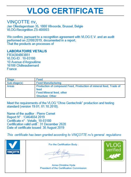 Vetalis Certificat Vlog